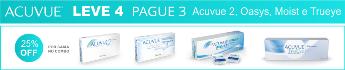 Promoção Acuvue Leve 4, Pague 3